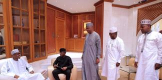 President Buhari meets with Osinbajo, Saraki, Yari, Dogara shortly before leaving for London