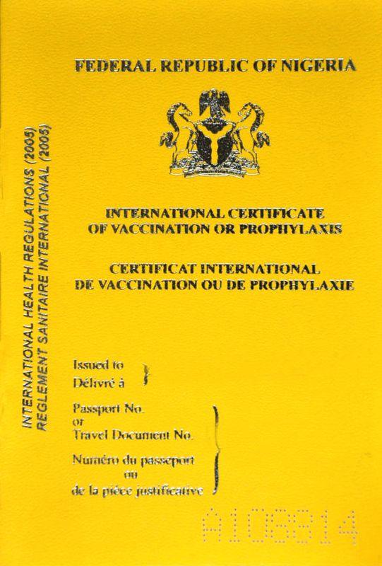 Nigerian yellow card