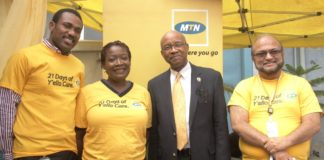 Dear Sir, Just observed that the picture caption has some inadequacies. Kindly find attached the appropriate picture and captions to go with it. However, the press release is Okay, kindly help push it on your page. Thanks for your cooperation. Y'ello Care 1 :L-R Chief Transformation Officer MTN Nigeria, Bayo Adekambi; Acting Co-operate Services Executive, MTN Nigeria, Mrs. Oyeronke Oyetunde; Director MTN Foundation, Mr. Denis Okoro; Chief Operating Officer, MTN Nigeria, Muhammad Zia Siddiqui at the opening ceremony of the 2017 annual 21 days of Y'ello Care, in Lagos recently.