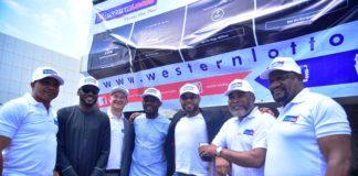 For Western Lotto are Paul Obazele, Tuface Idibia, Elvis Krivokuca, AY, Ramsey Noauh, Zack Orji and Alex Usifo.
