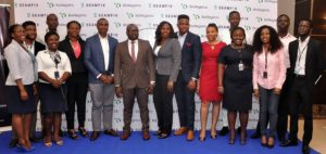 Chibuzor Onwurah, executive director; Chimezie Emewulu, managing director, 6&7 (from left) flanked by Seamfix Nigeria Limited's team, at the launch of BioRegistra on Tuesday, October 17, 2017 at Four Point by Sheraton, Oniru, Lagos State --