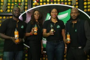 L-R: Gbolahan Sanni, Marketing Manager, Flavours and Still Beverages, Coca-Cola Nigeria Limited; Oluyomi Moses, Shopper Marketing Manager, Nigerian Bottling Company; Nwamaka Onyemelukwe, Public Affairs & Communications Manager, Coca-Cola Nigeria Limited; Sam Alugo, Senior Brand Manager, Flavours and Still Beverages, Coca-Cola Nigeria Limited at the Media Breakfast Launch Event for 5Alive New Variants held at Federal Palace Hotel, Victoria-Island, Lagos.